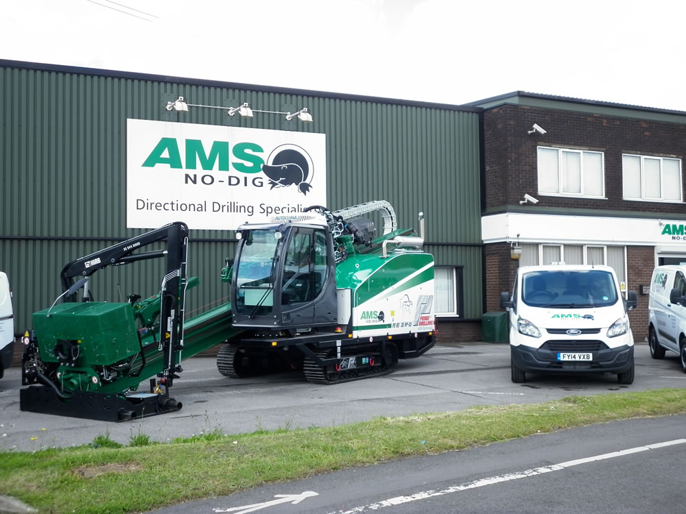 AMS No-Dig's Prime Drilling PD60 outside our Scunthorpe offices and workshops