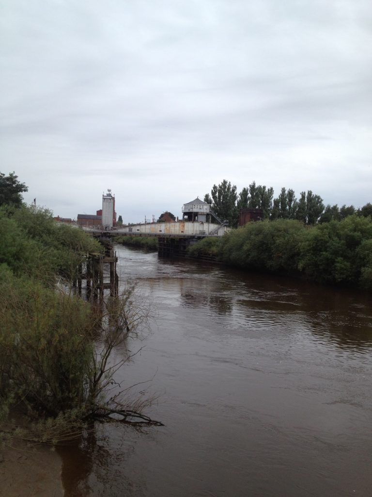 The river and railway at Selby