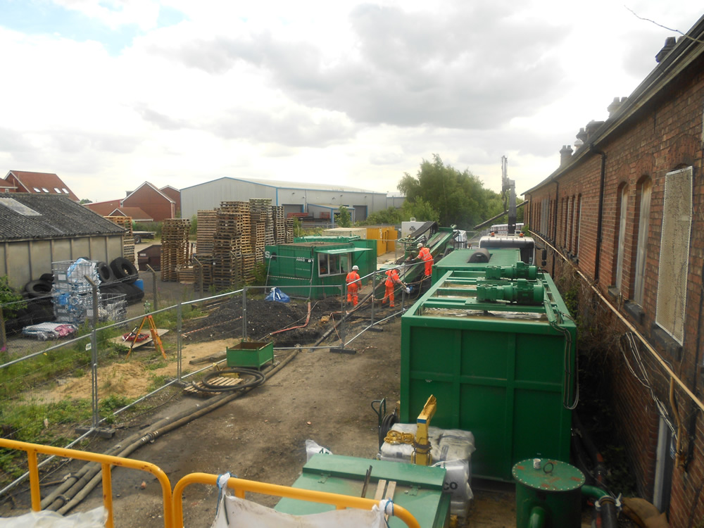 The Drilling site at Selby