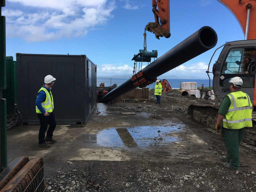 Pipe installation complete