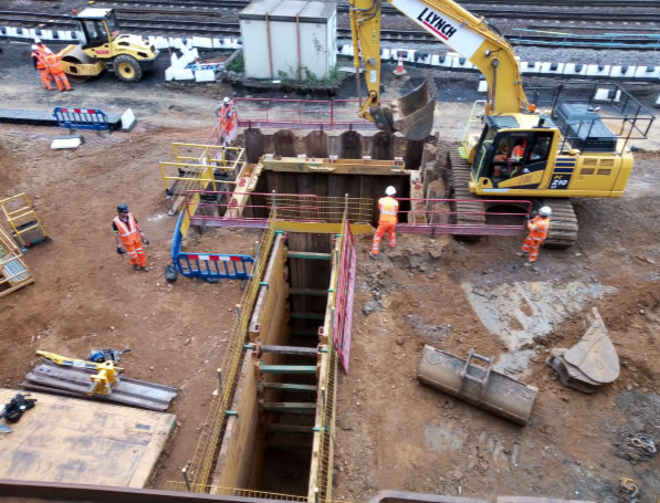 Pipe Rammer in operation